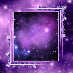 purple galaxy frame purpleframe galaxyframe freetoedit