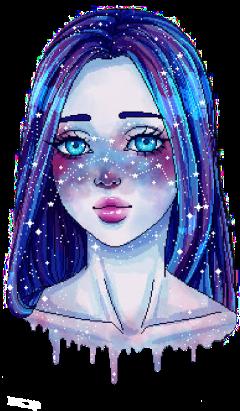 girl galaxymakeup galaxyhair galaxygirl galaxysticker freetoedit