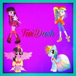 mlp twiglight rainbowdash twi̇dash freetoedit