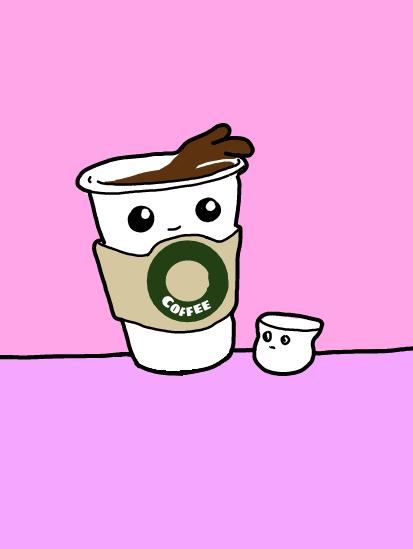 #freetoedit #coffee #coffeecup #marshmello #kawaii #cute #draw #drawing #painting