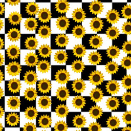 sunflower aesthetic checkerboard emoji yellow freetoedit