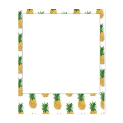 frame photo foto paper pineapple freetoedit