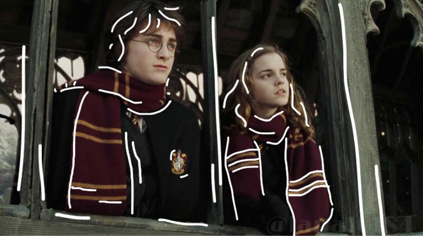 Harry and Hermione ❤️💛 Do you ship Harmione? I'm more of a Romione gal, myeslf 😂   #Harry #Potter #HarryPotter #Hermione #Granger #HermioneGranger #Hogwarts #HogwartsHouss #Gryffindor #GryffindorPride #hp #Potterhead #Witch #Wizard #Outline #OutlineEdit #freetoedit #Edit #Editor #PicsArt                                                               its rewind time