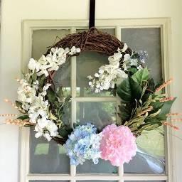 pcdoors doors wreath spring