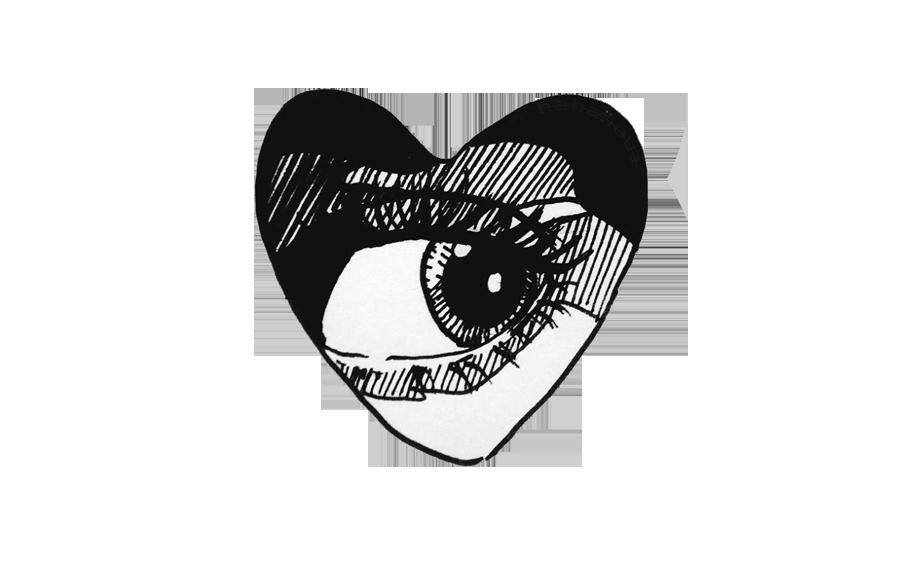 #eye #heart #black #grunge #edgy #aesthetic #tumblr #sticker #art