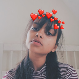 freetoedit selfie aesthetic redaesthetic heartcrown
