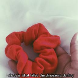 freetoedit red redaesthetic aesthetic scrunchie