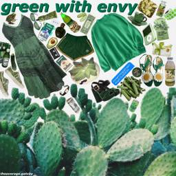 freetoedit green envy jealousy greenaesthetic