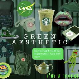 freetoedit green aesthetic greenaesthetic aestheticallygreen scrunchie