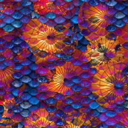 ircmermay mermay freetoedit colourful umbrellas
