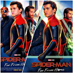 spidermanfarfromhome spiderman mysterio nickfury tomholland freetoedit
