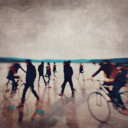 photographyart streetphotography blurred bicycle people