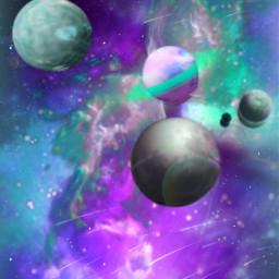 freetoedit galaxy planets meteorshower starlight