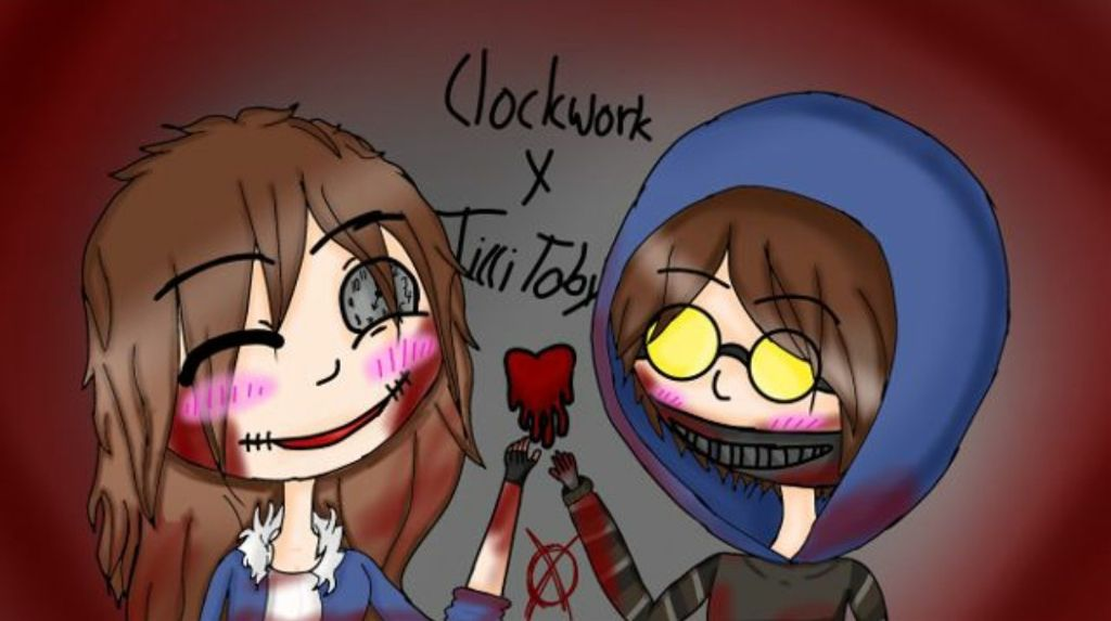 -Holds on To Tobys Hand and blushes a little- Hehe... I love you toby ^///////^~Clockwork♡☆◻✏            (Credit to this artist @emle2007)♡☆◻✏ · . . . . . .#Ticciwork #MeandToby #Myboyfriend #Clockwork #TicciToby #Creepypasta #Arisit #Credit #Love #couplegoals♡ #Proxy #Clockwork Creepypasta #Ticcitobycreepypasta #ticcitobyxclockwork #senpainoticeme #creepypasta Proxy #Clocky #Life