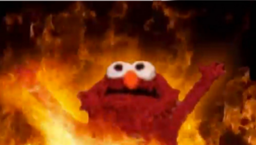 elmo meme fire red aesthetic redaesthetic