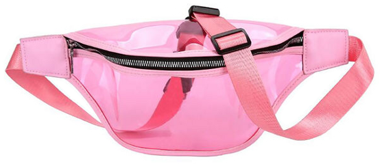 pink clear plastic fannypack bag freetoedit
