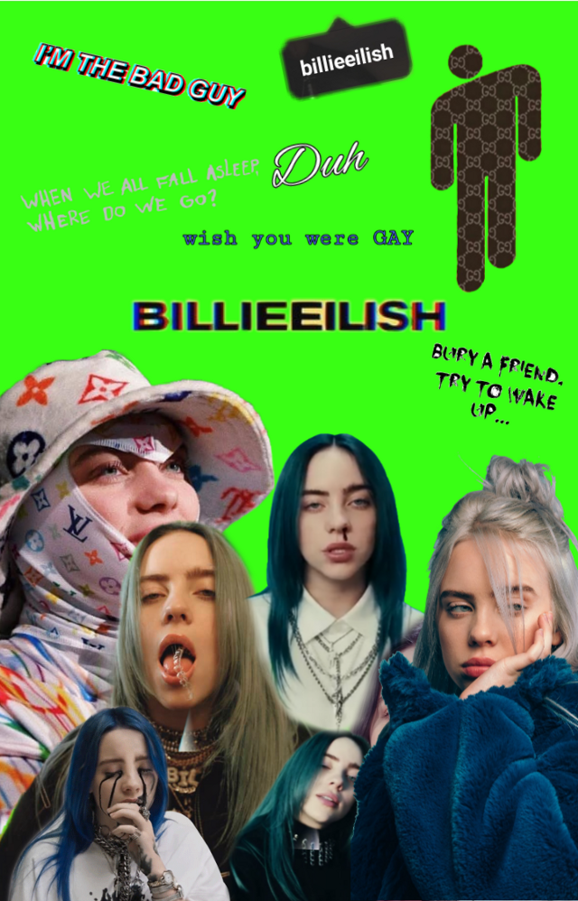 #BillieEilish I tried so hard on this, it actually turned out good tbh:/