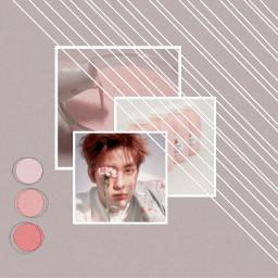 freetoedit jaehyun pink grey aesthtic