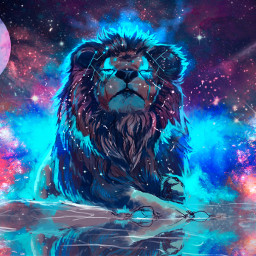 freetoedit galaxy lion cool wow