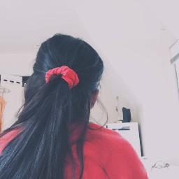 freetoedit aesthetic red redaesthetic cherry scrunchie