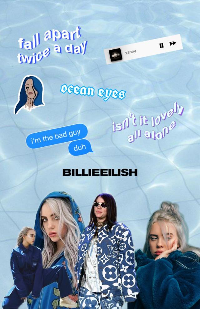#Billie Eilish #Blue Aesthetic💙