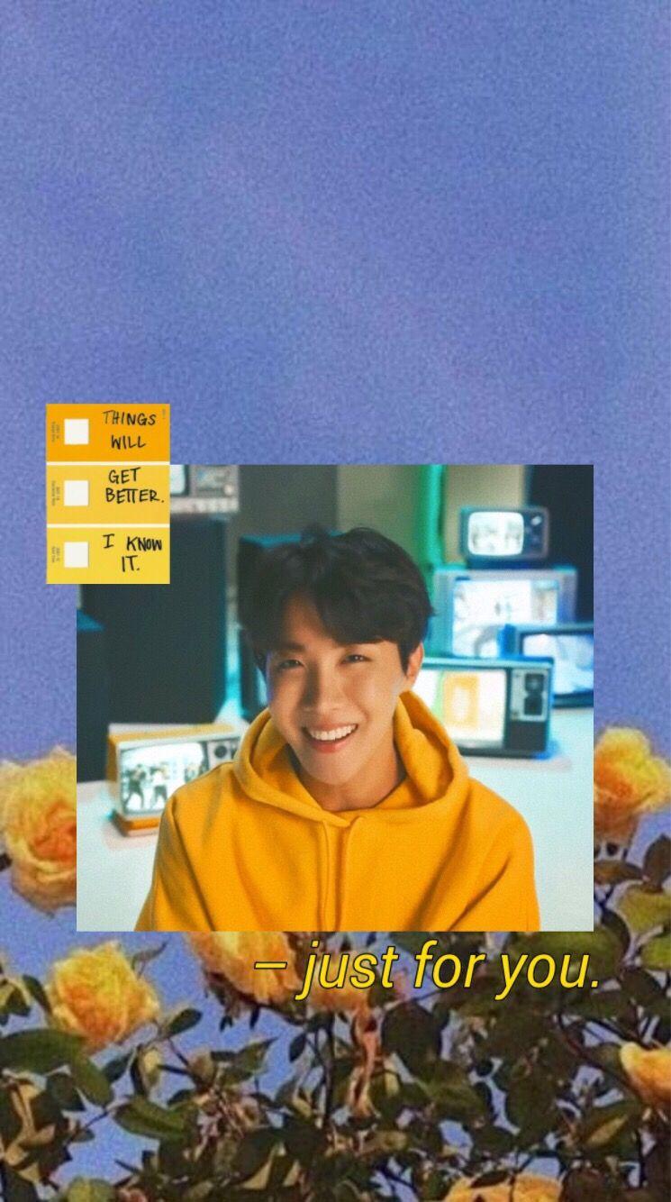 Bts Wallpaper Lockscreen Yellow Aesthetic Hoseok