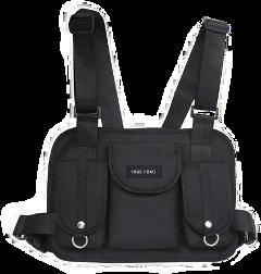 black utility bag fannypack military freetoedit