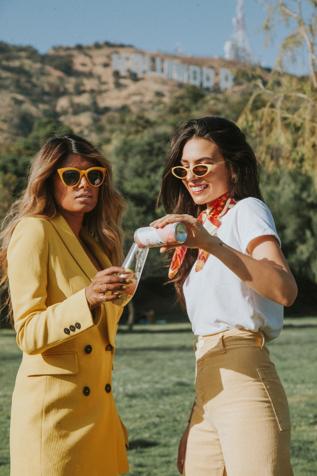 Best friends in LA 💖 Follow our new show on Instagram at @under_the_influence_show - coming soon 💖   #freetoedit #show #bffs4ever #bff #bffs #bffl #losangeles #la #photography #california #people #girls #yellow #summer #amclub #interesting #happy #smile #model #sky
