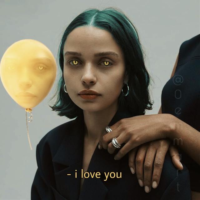 #freetoedit #balloon #iloveyou #yellow x