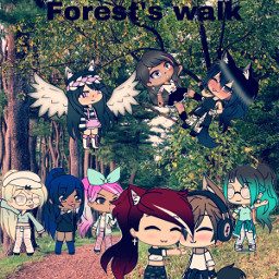 freetoedit gachalife forest walk forestwalk
