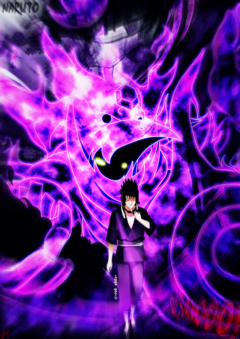 Sasuke Sasukeuchiha Susanoo Purple Naruto Narutoshippud
