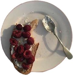plate food asthetic bread raspberry freetoedit
