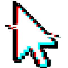 glitch effect cursor pointer mouse freetoedit