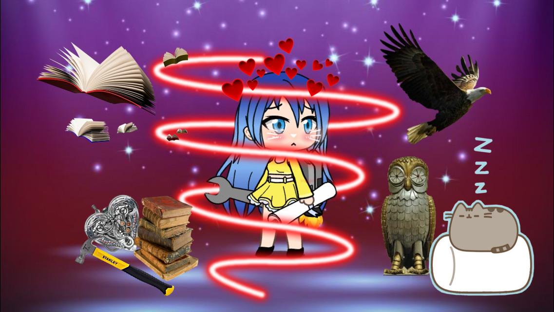 #gachalife #work #mechanic #pets #eagle #cat #books #birds #heartsemoji #profile