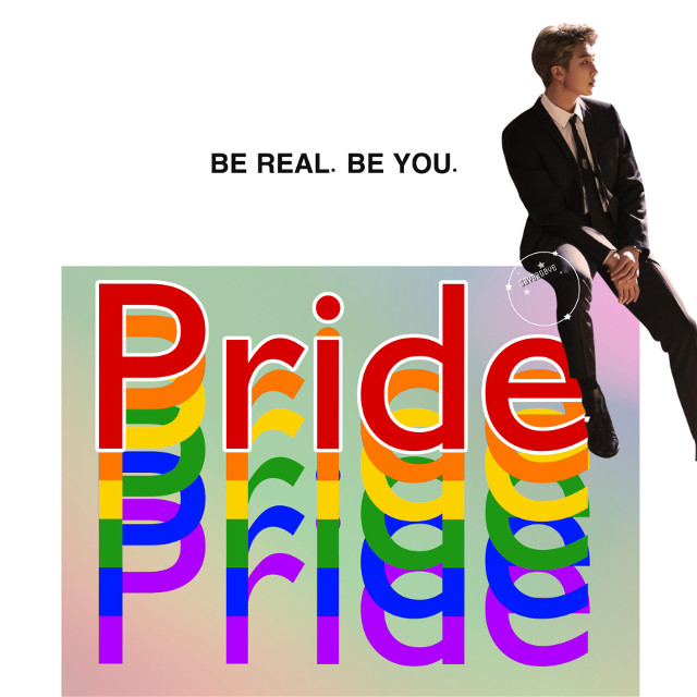 ❁ happy pride month! • june is my favorite month for a number of reasons. You are all so very valid.  { requests closed } ✧credits✧   ◌ namjoon from @btsphotoss  《 6/1/19 》 ↳ tags↴ #freetoedit #bts #kimnamjoon #namjoon #bangtanboys #beyondthescene