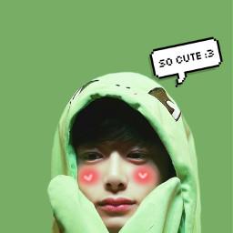 freetoedit hyungwon monsta cute green
