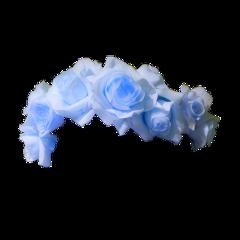 blue rose flower crown aesthetic freetoedit
