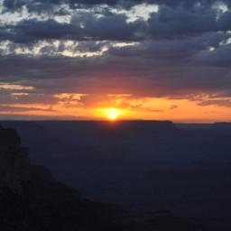 grandcanyon sunset arizona sky clouds