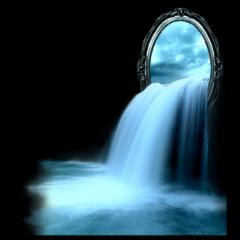 espejo agua cascada rio water freetoedit