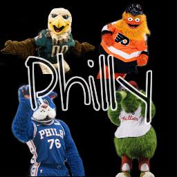 freetoedit sportsedits philly mascots swoop