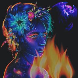 ircneonremix neonremix freetoedit neon phoenix