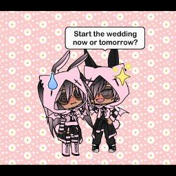 wedding marry gachalife friend gf