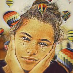 freetoedit airballoons airballoon girl srchotairballoons