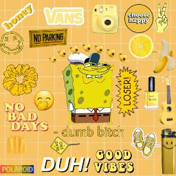 spongebob squarepants yellow asthetic