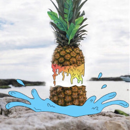 cartoon grime grimeart pineapple freetoedit