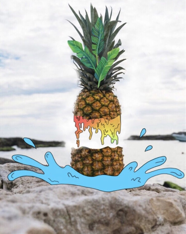 Want to learn how to add cartoon elements to your photos? Watch this tutorial to see how a normal pineapple could turn into an artistic fruit 🍍🍍bit.ly/AddCartoonElements  #cartoon #grime #grimeart #pineapple #freetoedit