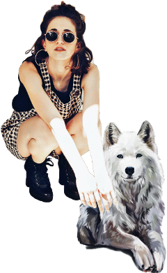 style girl dog girlanddog chicayperro freetoedit