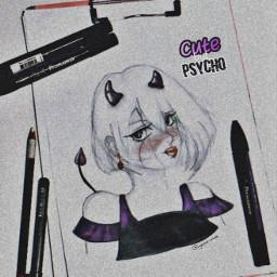 theend pyscho sweetbutpsycho cutebutpsycho anime freetoedit