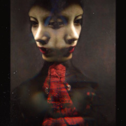 twofaced twofaces woman reddress photography freetoedit