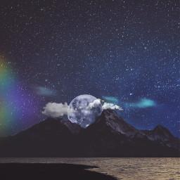 freetoedit fullmoon skynight remixit landscapesremix